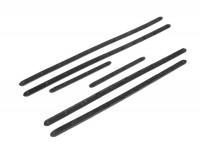 Trittleistensatz -MAURO PASCOLI, Breite=20mm- Vespa V50, V50N, 1.Serie (-1964, V5A1T -36000) - Gummi (mit eingegossenen Hohlnieten)