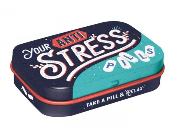 "Pillendose -Nostalgic Art- ""Anti Stress Pills"" - 4x6x2cm"