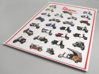 Poster -VESPA 2nd Series- model overview - 900mm x 600mm