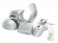 Frame (b-stock) -LML, drum brake- LML Star - incl. mudguard, side panels, tool box, handlebar, horn cover - silver - 140