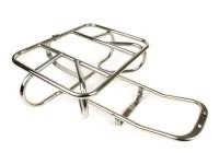 Rear rack -LAMBRETTA horizontal spare wheel holder- Lambretta LI (series 3), LIS, SX, TV (series 3), DL, GP - stainless steel