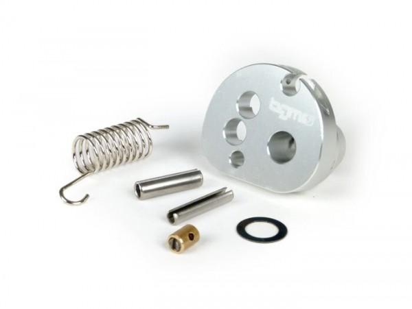 Gaszugrolle -BGM Pro made by JPP, QUICK ACTION, Aluminium CNC- Lambretta LI, LIS, SX, TV (Serie 2-3), DL, GP - Silbern eloxiert