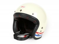 Helmet -BELL Custom 500, Stripes Pearl White- open face helmet, white - L (59-60cm)