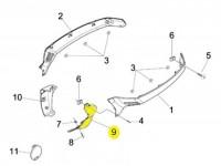 Spoiler terminal -PIAGGIO- Vespa GT (ZAPM31), Vespa GTL (ZAPM31), GTS 125-300 (ZAPM31, ZAPM45), Vespa GTV (ZAPM31, ZAPM45) - lhs