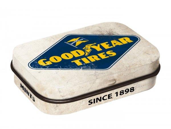 "Pillendose -Nostalgic Art- ""Goodyear - Logo White"" - 4x6x2cm"