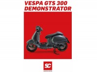 Catalogue -VESPA GTS 300 scooter phare- anglais