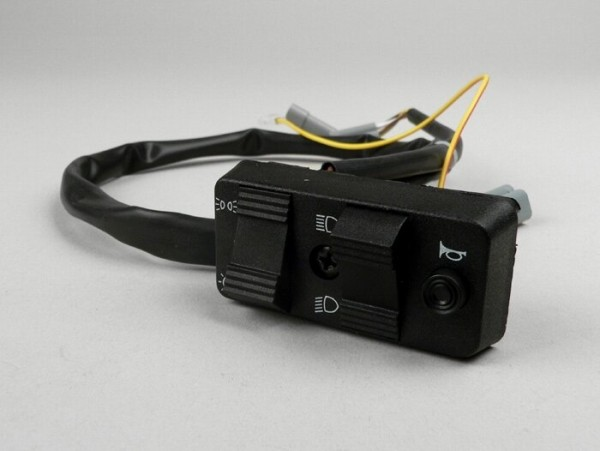 Llave de luces -PIAGGIO- Vespa PX Elestart (1998-) - 10 cables (CC, modelos con batería, contacto tipo NA) - conector múltiple para faro