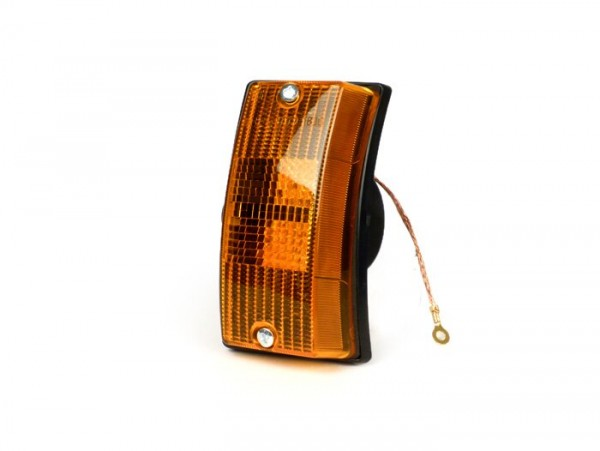 Blinker -SIEM- Vespa PX80, PX125, PX150, PX200, T5 125cc vorne links - Orange