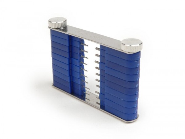 Galgas calibrador de chiclés -UNIVERSAL- Ø=0,45-1,50mm