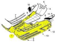 Foot board -PIAGGIO- Vespa LX (ZAPC38, ZAPM44,ZAPM68), Vespa LXV (ZAPC38, ZAPM44,ZAPM68), Vespa S (ZAPC38, ZAPM44,ZAPM68)