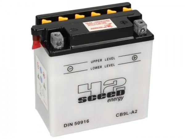Batería -Standard SCEED 42 Energy- CB9L-A2 - 12V, 9Ah - 137x76x140mm - ácido incl.