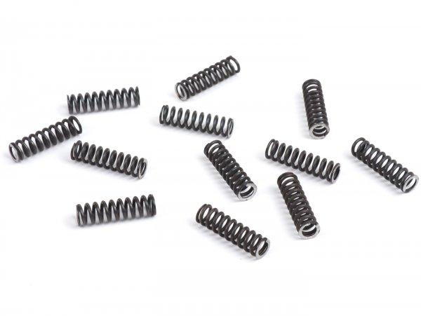 Clutch springs (stiff) -STOFFI- fits 12 spring conversion set for standard clutch type- Vespa V50, V90, SS50, SS90, PV125, ET3, PK50, PK80, PK50 S, PK80 S, PK125 S, PK50 XL, PK125 XL, ETS, PK50 HP, PK50 SS