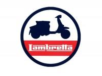 Aufkleber -LAMBRETTA Silhouette Lambretta Ø=75mm-