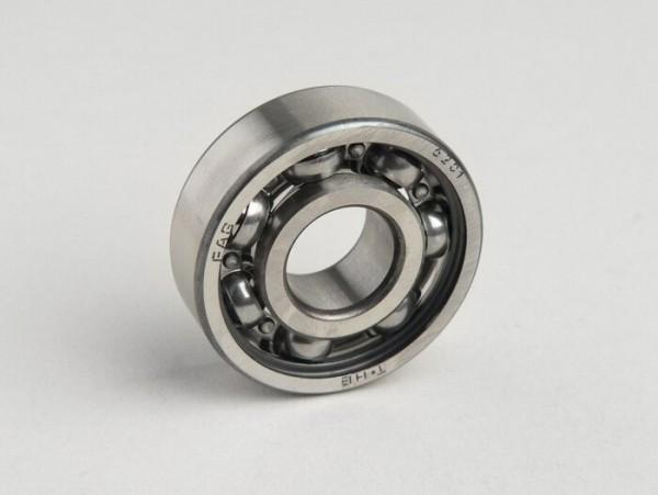Ball bearing -6201- (12x32x10mm) - (used for front wheel, all Lambretta models, Vespa PX (-1982) - gearbox Lambretta A, B, C, LC, D, LD)