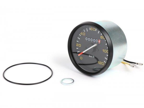Speedo -BGM ORIGINAL- Vespa Ø=85mm - PX alt (till 1984) - 120km/h