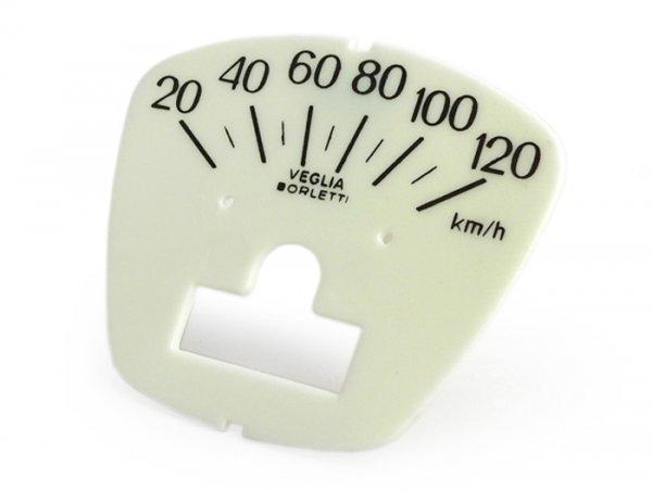 Esfera cuentakilómetros -LAMBRETTA- DL 150, GP 150 - 120km/h