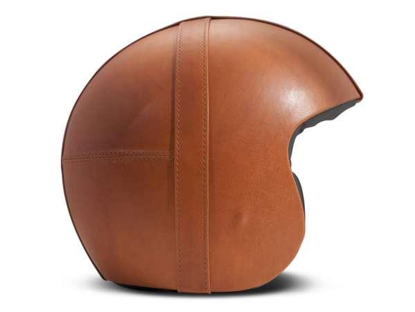 Helmet -DMD Jet Vintage- open face helmet, vintage - Bowl Dark Orange - M (57-58cm)