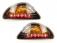Blinker-Set -POWER 1 LED (E-Prüfzeichen)- Vespa LX, LXV, S - smoked / schwarz getönt -