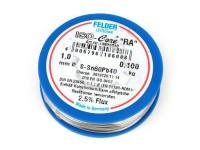 "Bobine de fil brasage -FELDER- ISO-Core ""RA"" avec plomb, (60%Sn 40%Pb) - Ø=1.0mm"