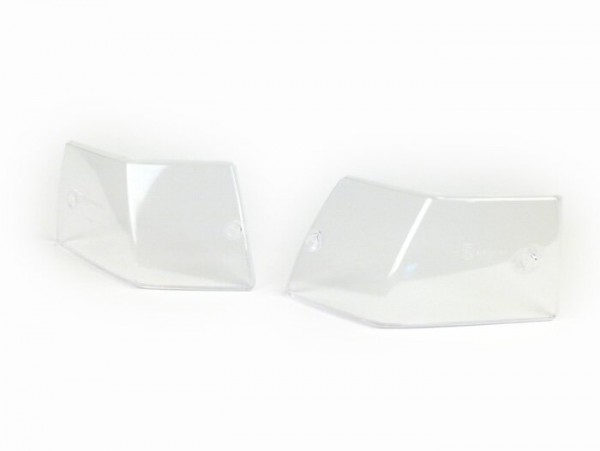 Pair of indicator lenses -VESPA- Vespa PX80, PX125, PX150, PX200, T5 125cc - colourless - rear