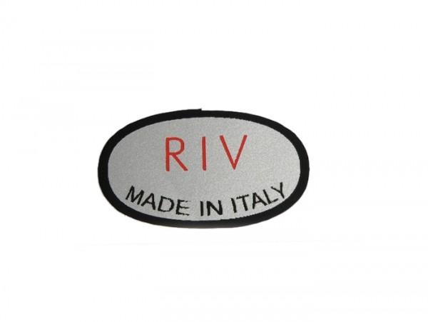 Sticker -RIV- shock absorber Lambretta D/LD 150, TV 175 (1st-2nd series)