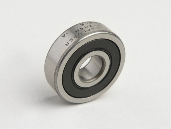 Ball bearing -6200 2RS (both sides sealed)- (10x30x09mm) - (used for gear cluster Vespa V50, V90, SS50, SS90, PV125, ET3, PK S, PK XL)