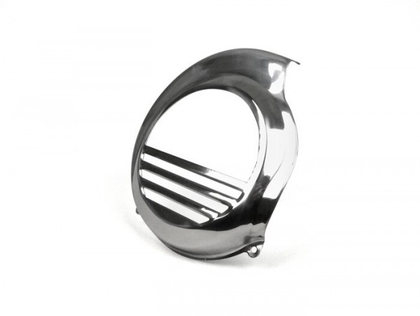 Flywheel cover -SPAQ- Vespa PX80, PX125, PX150, PX200 - stainless steel - models with kickstart only