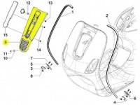 Horn cover -PIAGGIO- Vespa S (ZAPC38, ZAPM44, ZAPM68)