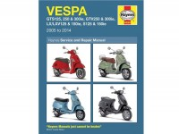Book -HAYNES workshop manual- Vespa LX125ie, LX150ie, LXV125/150ie, S125/150ie (09-13), GTS125ie Super (09-14), GTS250ie (05-09), GTS300ie Super (08-14), GTV250ie (07-10), GTV300ie (10-14)
