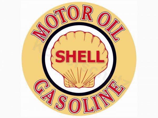 """Aufkleber -Ø 95mm- """"Shell Oil"""""""