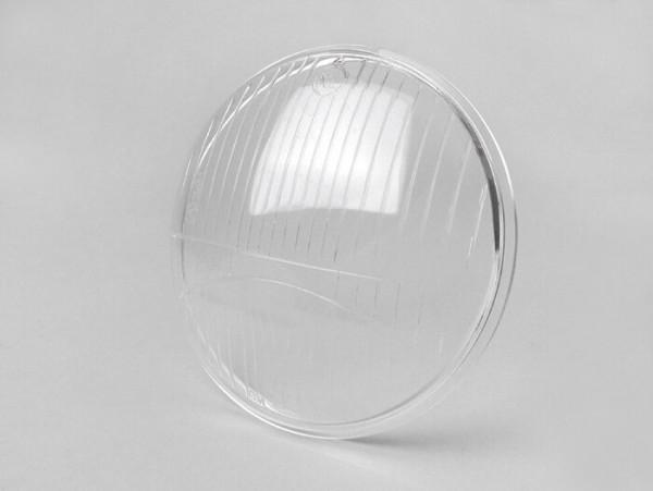 Headlight lens -SIEM Ø=130/150mm- Vespa Rally180 (VSD1T), Rally200 (VSE1T), Sprint Veloce - glass