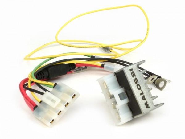 Spannungsregler-Set für -MALOSSI VesPower- Vespa PX (zur Umrüstung auf Batteriebetrieb)