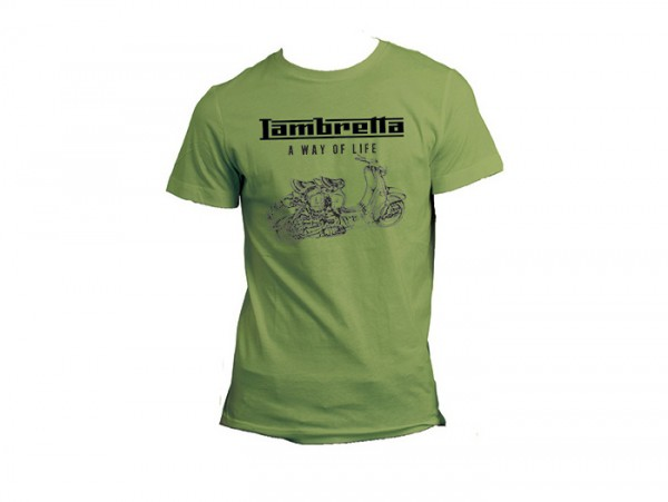 Camiseta -LAMBRETTA - A way of life- hombre - verde - M