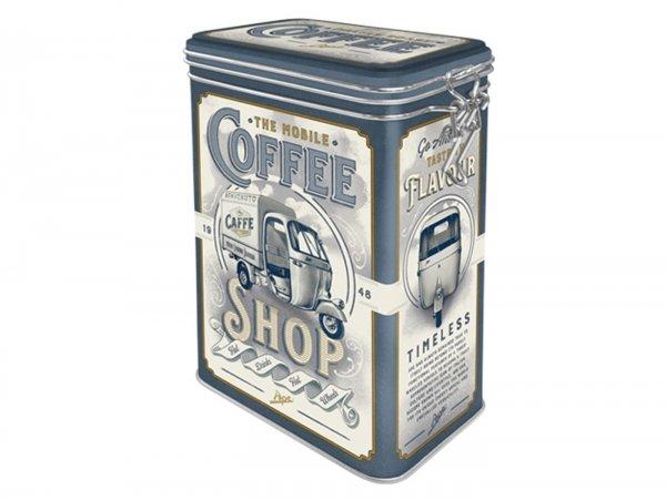 "Coffee tin, aroma tin, clip top box -Nostalgic Art- Ape, ""The mobile Coffee-Shop"" - 7.5x11x17.5cm (1.3l)"