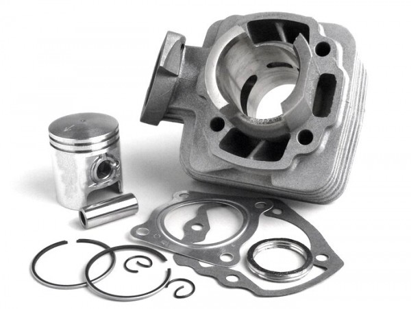 Cylinder kit -BGM ORIGINAL 50 cc aluminium- Peugeot AC (vertical) - SPEEDFIGHT1 50 cc AC, SPEEDFIGHT2 50 cc AC, TKR50, TREKKER50, VIVACITY50, ELYSEO50, SQUAB50, SV50, ZENITH50, BUXY50, ELYSTAR50, LOOXOR50, SPEEDAKE