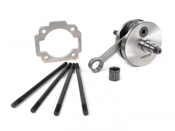 Crankshaft set -BGM Pro Racing full circle web, 51mm stroke, 105mm conrod- Vespa PK125 XL2, PK125 ETS (Ø=24mm cone)