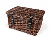 Basket - wicker basket with lid -OEM QUALITY 47x31x25cm- bicycle, scooter, vespa, moped e.g. PIAGGIO Ciao, SI, Bravo - Color: Brown