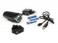 Fahrradscheinwerfer - Fahrradlampe Batterie LED -IXON Pure Front mit Akkus und Ladegerät- 30 LUX