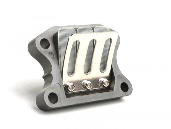 Reed valve -OEM QUALITY-  Peugeot 50cc (vertical cylinder) - SPEEDFIGHT1 50cc LC, SPEEDFIGHT2 50cc LC, XFIGHT 50, SPEEDFIGHT1 50cc AC, SPEEDFIGHT2 50cc AC, TKR50, TREKKER50, VIVACITY50, ELYSEO50, SQUAB50, SV50, ZENITH50, BUXY50, ELYSTAR50, LOOXOR50,