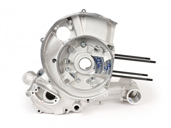 Cárter del motor -MALOSSI VR-One, admisión de válvulas de láminas, cárter mecanizado para Kingwelle hasta 64mm de carrera- utilizado para Quattrini M1X/M1XL, BGM177, Malossi 187MHR- Vespa PX80, PX125, PX150, LML Star/Stella 125/150 Elestart