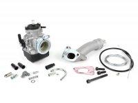 Kit carburateur -POLINI 3 goujons, 24mm Dellorto PHBL, admission rotative- Vespa PK XL
