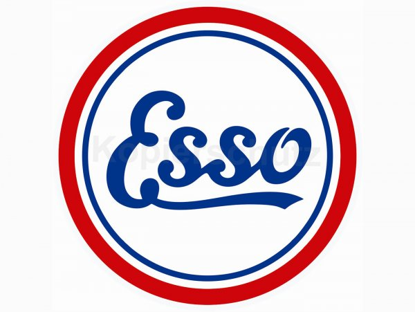 """Aufkleber -Ø 100mm- """"Esso"""""""