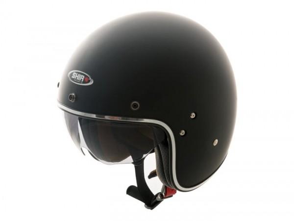 Helm -SHIRO SH235, Jet-Helm- schwarz matt - M (57-58 cm)