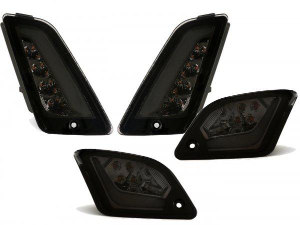 Blinker-Set vorne+hinten -HD CORSE (2019-) LED, Tagfahrlicht vorne + Positionslicht hinten (E-Prüfzeichen)- Vespa GTS 125-300 HPE (2019-) - smoked