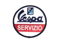 Patch -VESPA Servizio- blue/red/white - Ø=79mm