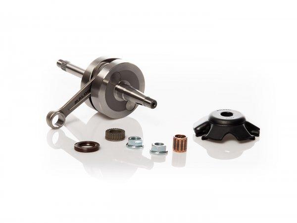 Crankshaft -MALOSSI MHR Team Big Bore 44mm stroke, 90mm conrod- Piaggio 50cc 2-stroke (for 13mm gudgeon pin)