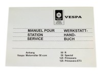 Workshop manual -VESPA- Vespa 50 R, 50 Special, Primavera 125, ET3
