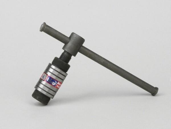 Extractor -MADE IN INDIA- M26x1,0 (exterior) HD- (extractor rotor volante Piaggio 50cc de 2 tiempos)