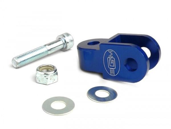 Shock absorber raiser -BGM- 40mm (M10 x 20mm, type Morini 50) - blue