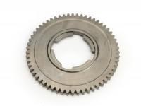 1st gear cog -OEM QUALITY, 4-speed gearbox- Vespa V50, V90, 50N, PV125, ET3, SS50, SS90, PK S, PK XL1, PK XL2, ETS - 58 teeth